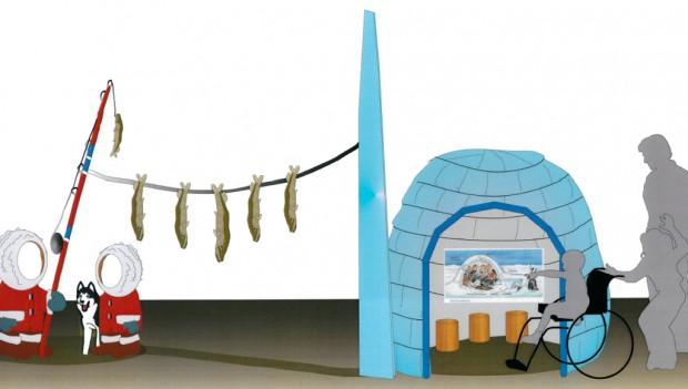 Entwurf zur Eskimo-Ecke des POLARIUM im Zoo Rostock