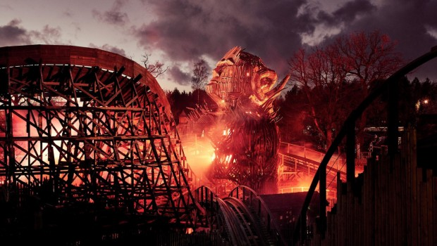 Alton Towers Wicker Man Feuer Test