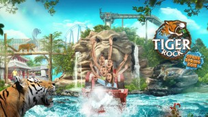 "Chessington World of Adventures 2018 mit neu thematisierter Wasserbahn ""Tiger Rock"" in umgestaltetem Themenbereich Land of the Tiger"