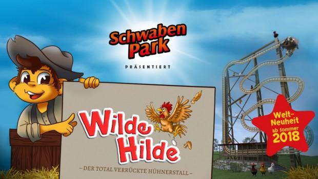 Neue Achterbahn Schwaben-Park 2018 - WIlde Hilde Artwork