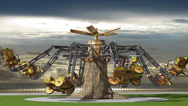 Parc des Combes 2018 Neuheit Apollo Sidecar Artwork