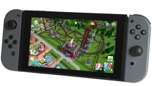 RollerCoaster Tycoon Nintendo Switch Mockup