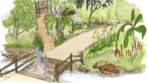 Safaripark Beekse Bergen Eingang neu - Bepflanzung
