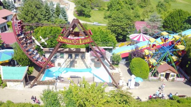 Schwaben-Park Luftaufnahme Riesenrad - Santa Lore