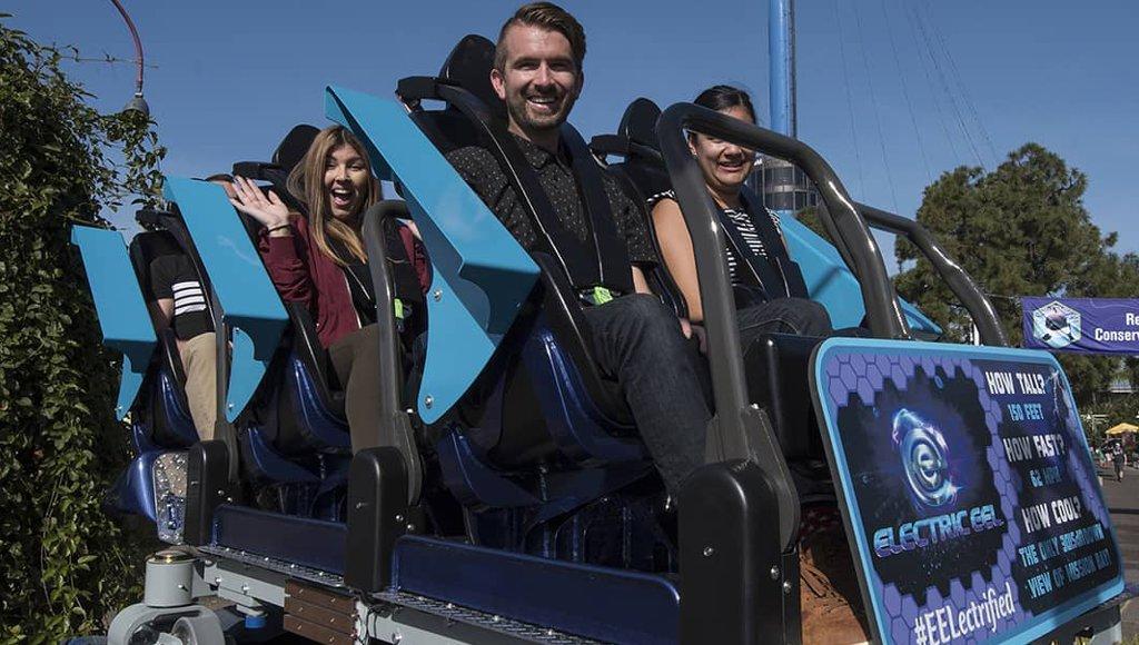 Zug von Electric Eel SeaWorld San Diego 2018