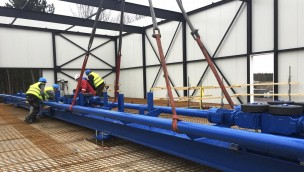 """Toverland beginnt Aufbau von """"Fēnix"""": Erste Schienen von neuem Wing Coaster montiert"""