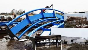 """""""Avalon""""-Baustelle im Blick: Fortschritt im neuen Themenbereich mit Großachterbahn """"Fēnix"""" im Toverland im Januar 2018"""