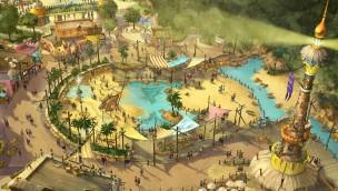 """Toverland enthüllt neuen Eingangsbereich: """"Port Laguna"""" heißt Besucher ab Sommer 2018 willkommen"""