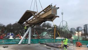 """""""Valkyria""""-Baustelle im Blick: Liseberg beginnt Aufbau von Europas längstem Dive-Coaster"""