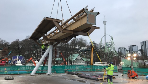 Valkyria Dive Coaster Liseberg First Track