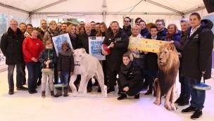 """""""Winterzauber"""" 2018 im Zoo Osnabrück eröffnet: Schlittschuhlaufen und Eisstockschießen warten"""