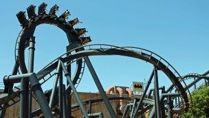Batman the Ride in Six Flags St. Louis