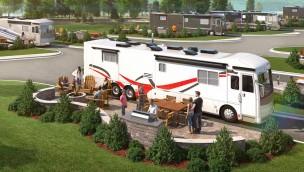 Cedar Point Erweiterung Campingplatz Artwork
