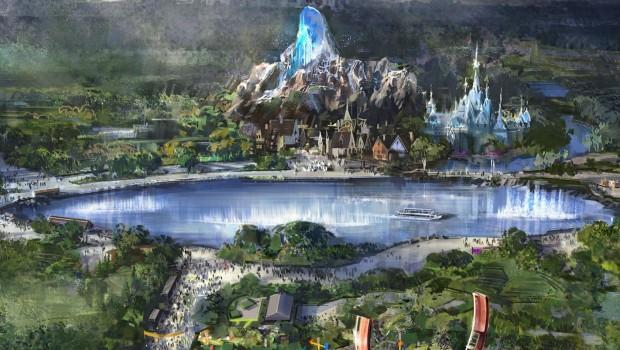Disneyland Paris Frozen Themenbereich Artwork