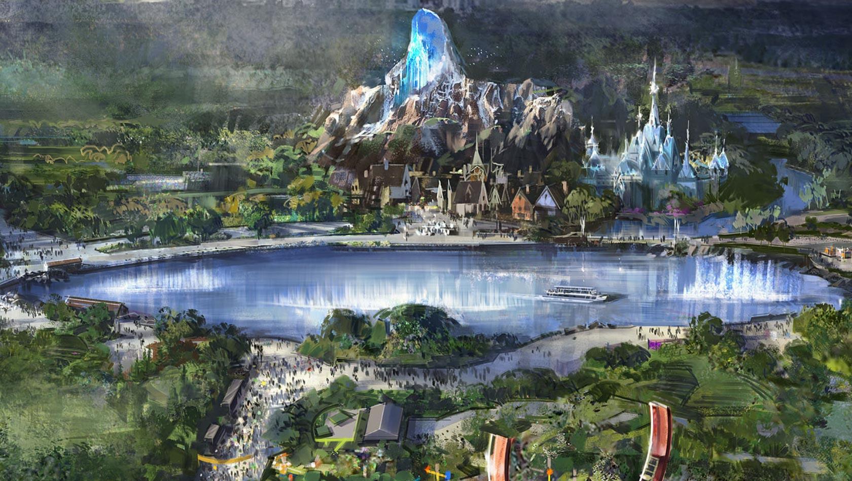Disneyland Paris Karte 2018.Disneyland Paris Vor Erweiterung Mit Star Wars Frozen