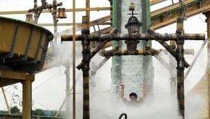 Eifelpark Wildwasserbahn Piraten Nahaufnahme
