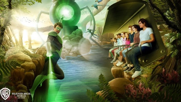 Green Lantern Flying Theater Abu Dhabi World Warner Bros Artwork