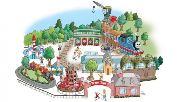 Kennywood Thomas Town Artwork 1