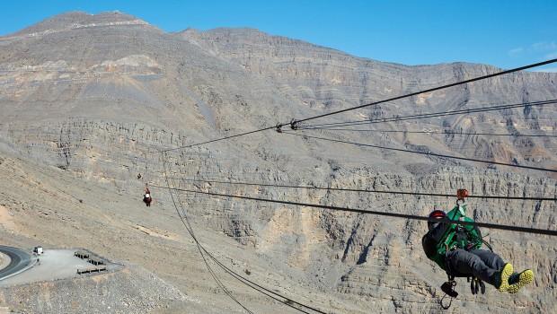 Längste Zip-Line der Welt Abgrund