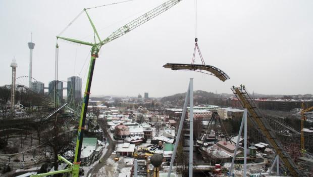 Liseberg Valkyria Höchster Punkt Baustelle