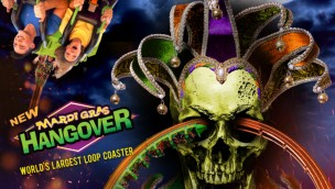 """Mardi Gras Hangover"" wird neue Looping-Attraktion 2018 in Six Flags Great America"