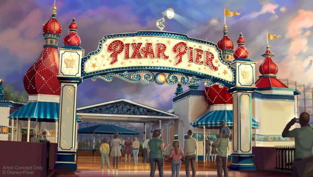 Pixar Pier EIngang Artwork