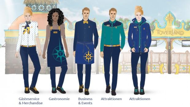 Toverland neue Mitarbeiter-Kleidung 2018 Entwurf