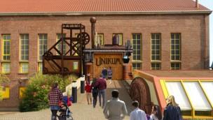 """potts park erschafft 2018 neues Erlebnis im """"Unikum"""": Thematisierung für Lasershow in historischem Gebäude"""