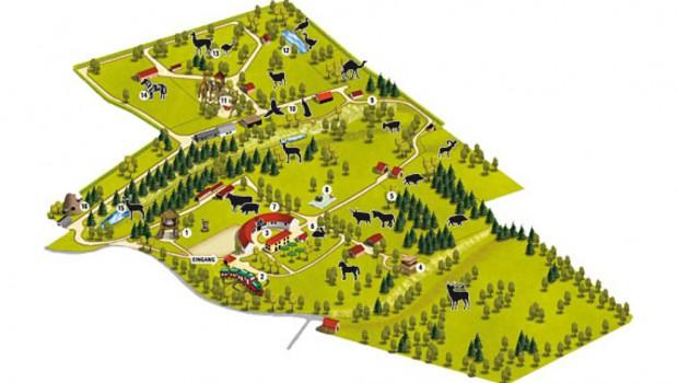 Wildpark Odenwald Schwarzach Parkplan