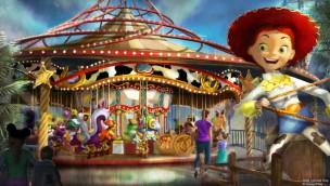 """Pixar Pier in Disney California Adventure erhält 2019 """"Jessie's Critter Carousel"""" mit Toy Story-Thema"""
