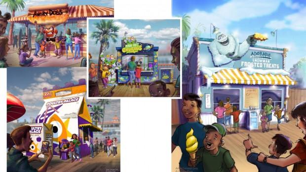 Disney Pixar Pier Food Outlets 2018 neu Artwork