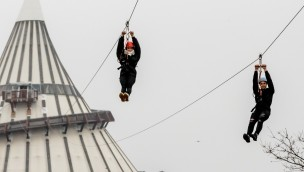 """Elbauenpark 2018 neu mit """"ElbauenZip"""": 437 Meter lange Seilrutsche eröffnet"""