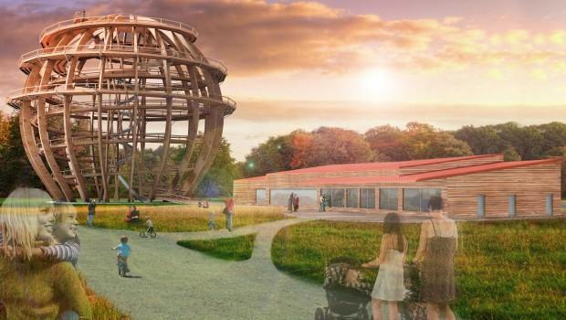 Holzkugelturm Freizeitpark Schwandorf 2018 Rendering
