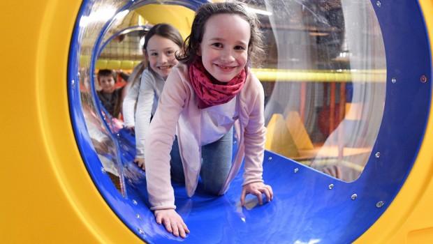 Ravensburger Kinderwelt Kornwestheim Parcours kriechen