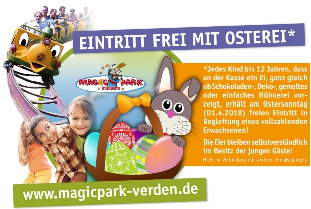 Magic Park Verden Ostern 2018 Aktion