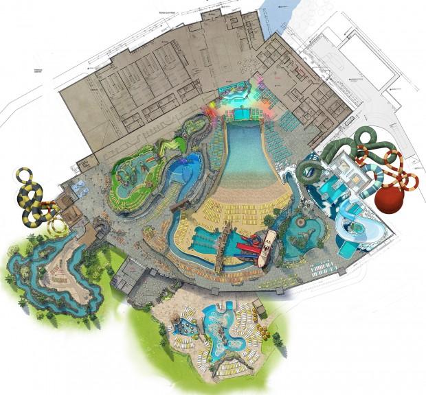 Europa-Park Wasserpark Rulantica Draufsicht