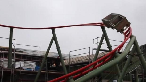 Testfahrten K2 Achterbahn Karls
