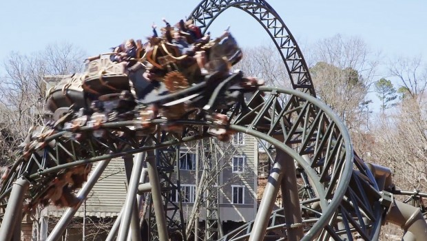 Time Traveler Silver Dollar City Xtreme Spinning Coaster MACK Rides
