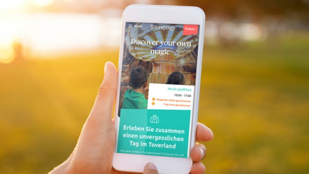Toverland neue Homepage MObile