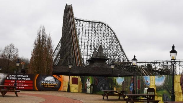 Colossos 2019 Wiedereröffnung Bauzaun Heide Park