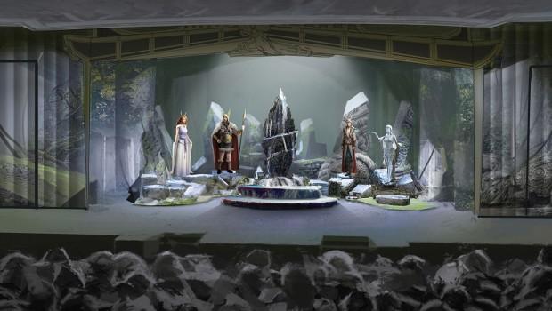 Europa-Park Musical Rulantica - Bühnenbild Wassermenschen Konzept