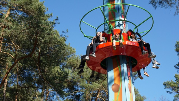 Free Fall Tower Jungle Drop im Freizeit-Land Geiselwind Dschungelturm