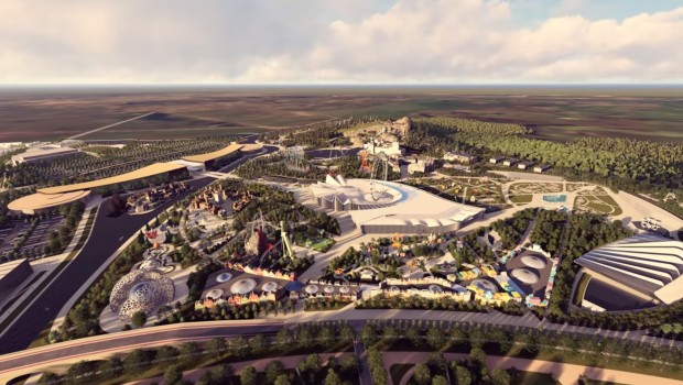 Freizeitpark Meruert Astana Kasachstan Luftaufnahme