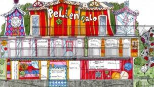 Fun House Pellen Talo Konzeptzeichnung