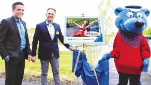 Ravensburger Spieleland: Südmail-Briefmarke zum 20. Geburtstag enthüllt