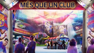 Barca Experience FC Barcelona Freizeitparks Rendering