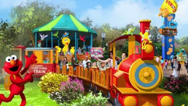 Elmo Choo CHoo Train Sesame Street Orlando SeaWorld Artwork