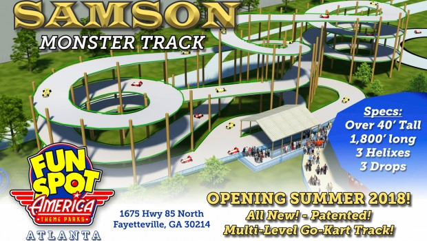 Fun Spot America Samson Monster Strack Ankündigung