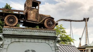 """Liseberg komplettiert erste Abfahrt bei neuer Achterbahn """"Valkyria"""": Längster Dive-Coaster Europas kurz vor Schienenschluss"""