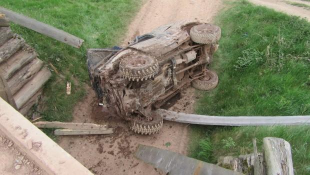 Mammutpark Unfall Abstürz mit Geländewagen